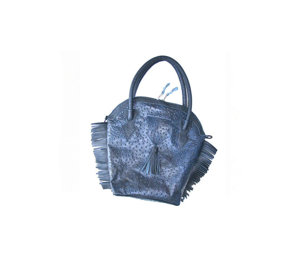 14 AD Blue Ostrich Handbag (slide)