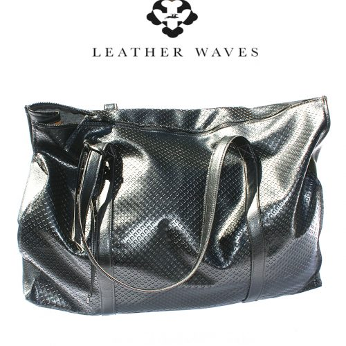 (#10) Faux Leather Travelbag