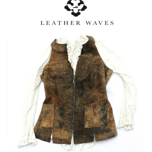 (#38) Distressed Leather Vest