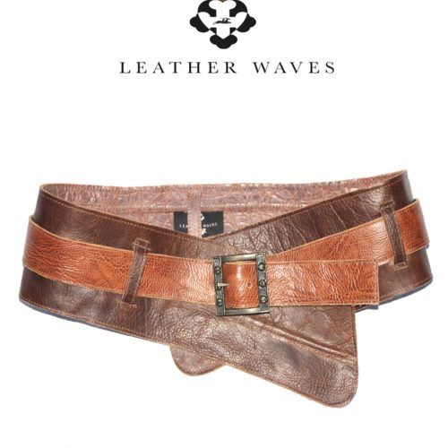 (#44) Leather Double Belt