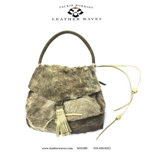 (#101) Fur-On Cowhide Purse