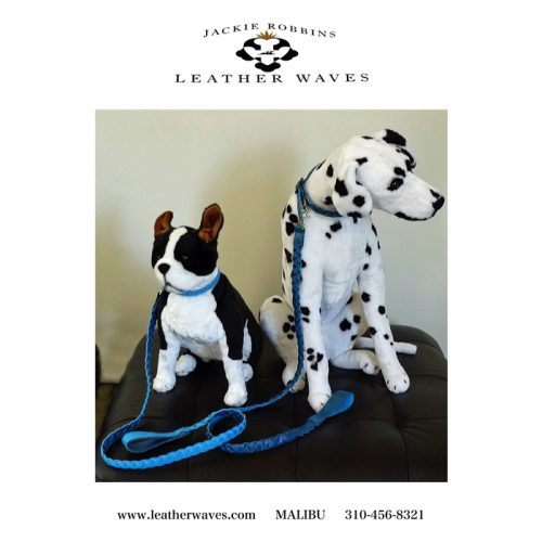 (#111) Fido and Spot Leather Leash & Collar