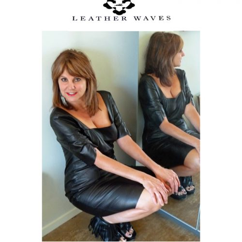 (#112) Little Black Leather Dress
